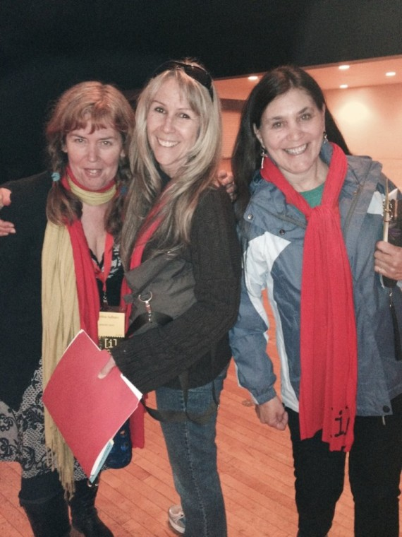 Ashland Independent Film Festival, April 2014 Cynthia Salbato, Suz, Denise Ross
