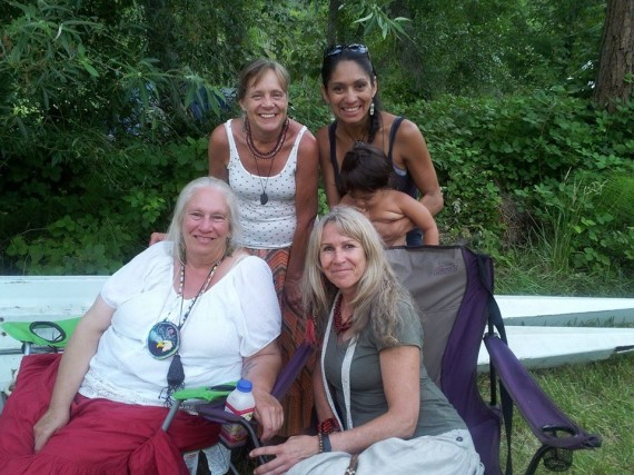 My tribe at the Salmon Ceremony - LOVELY friends, Jaya, Lisa, Teresa, our little medicine girl, and me. Once again I was honored to have the opportunity to help Grandma with the water ceremony again.