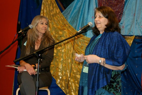 Suz as presenter and Kris Steinnes as organizer and promoter at the Women of Wisdom Conference, Seattle, Feb. 2014